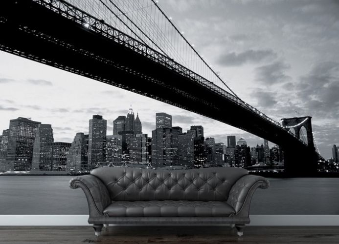 Brooklyn Bridge view photo wall mural wallpaper | Online shop